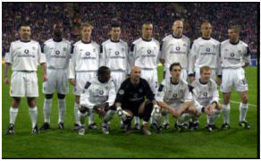 Karl Power joins the players of Manchester United FC