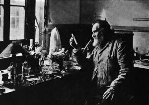 Scientist in his laboratory