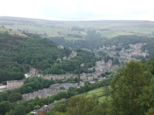 Hebden Bridge, viewed from Horsehold Road
