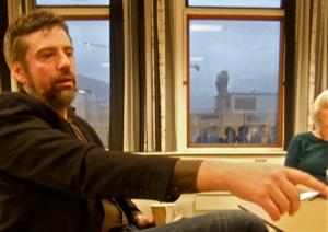 Svein-Arne Selvik being interviewed at Bergen University College, 27/11/11