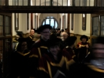 Leaving the Whitworth Hall after the ceremony