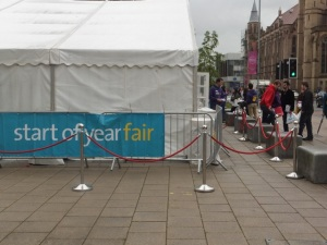 Welcome fair marquee