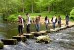 Crossing the stepping stones