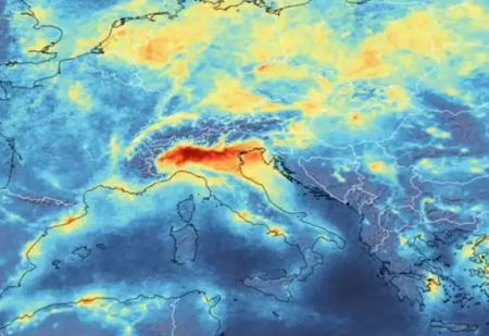 ESA image showing Italian smog